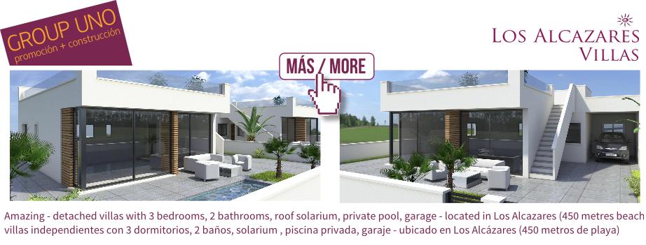 Los Alcazares Villas 3 bedrooms with private pool